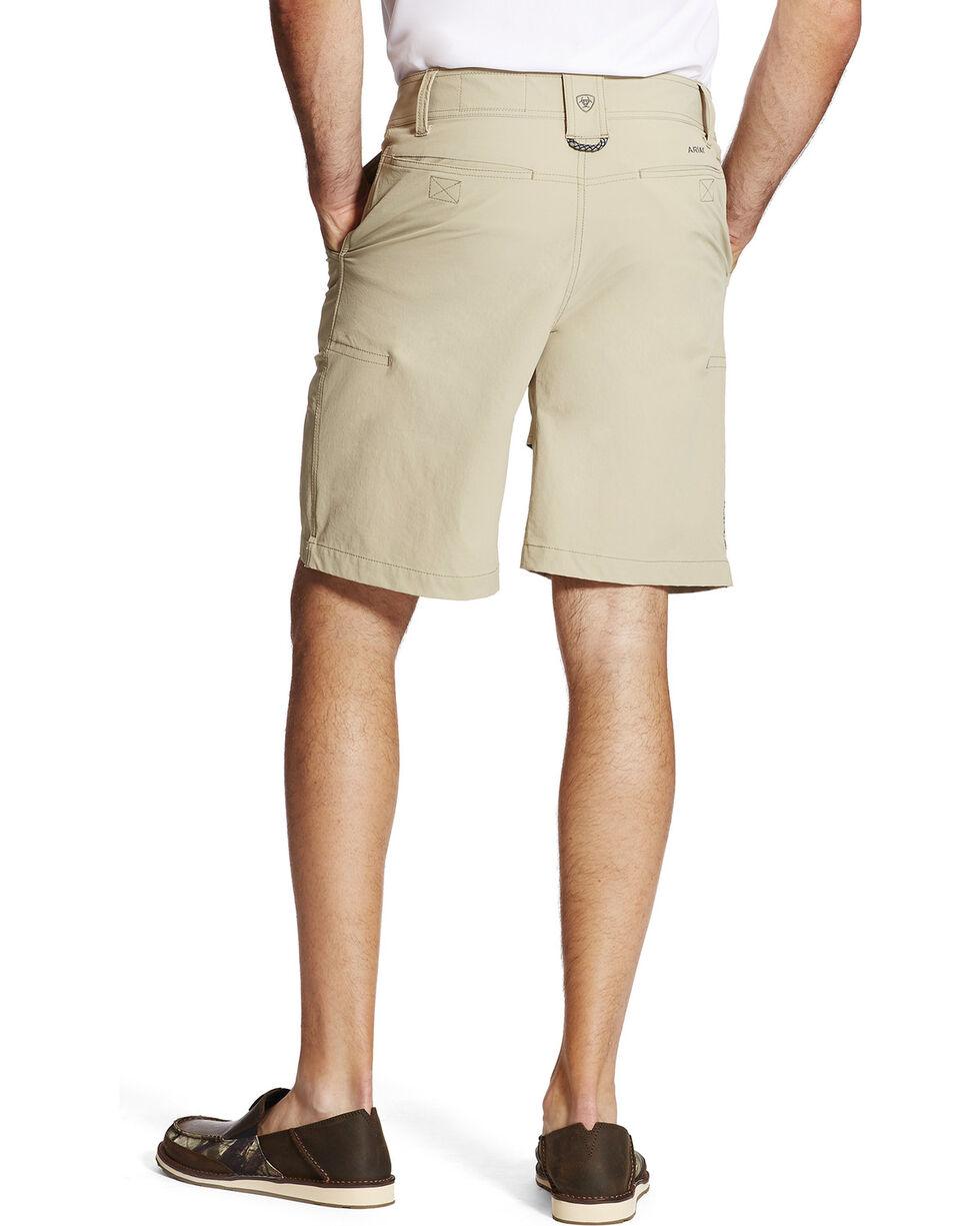 Ariat Men's Khaki Aluminum Heat Series Tek Airflow Shorts , Beige/khaki, hi-res