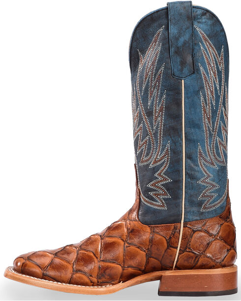 Anderson Bean Boys' Filet of Fish Seas The Day Boots - Square Toe, Cognac, hi-res