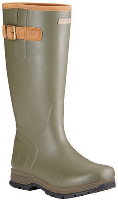 Ariat Burford Rubber Outdoor Boots - Round Toe, Olive, hi-res