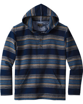 Pendleton Men's Serape Stripe Popover Hoodie , Navy, hi-res