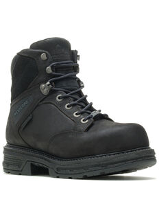 Wolverine Men's Hellcat Lace-Up Work Boots - Composite Toe, Black, hi-res