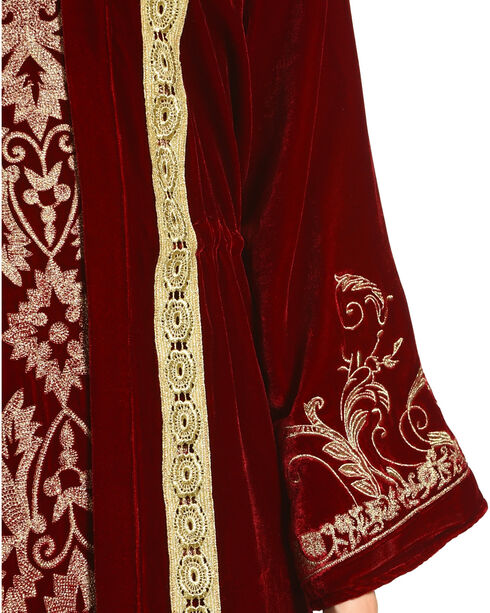 Tasha Polizzi Women's Royal Velvet Robe, Red, hi-res
