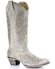Corral Women's Angela Western Boots - Snip Toe, White, hi-res