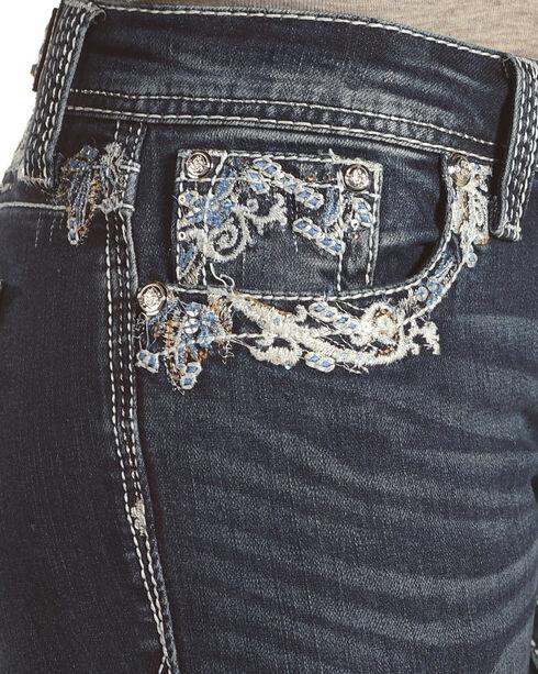 Grace in LA Women's Blue Rawedge Pocket Jeans - Boot Cut , Blue, hi-res