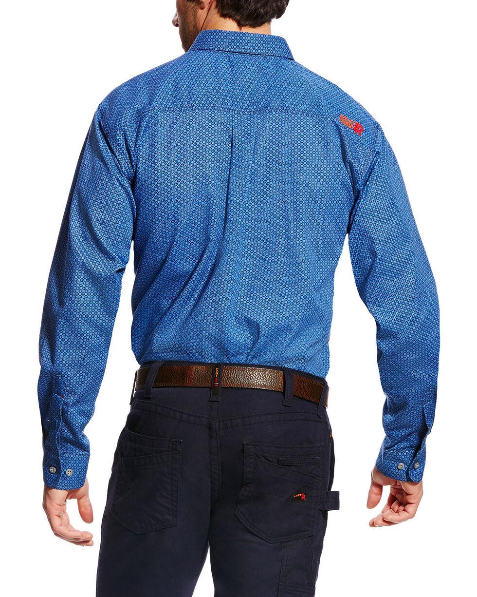 Ariat Men's FR Burleigh Long Sleeve Print Work Shirt, Multi, hi-res