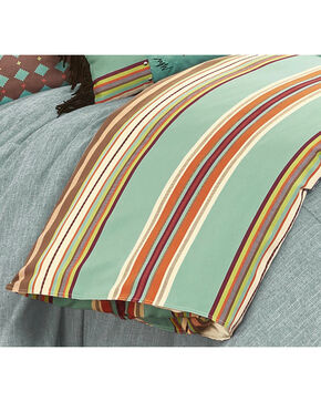 HiEnd Accents Turquoise Serape Duvet Cover - Super King , Turquoise, hi-res