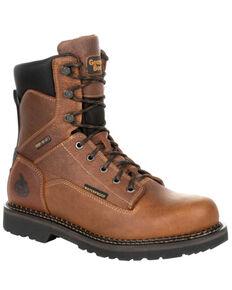 Georgia Boot Men's Giant Revamp Waterproof Work Boots - Soft Toe, Brown, hi-res