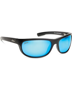 Hobie Men's Cobalt Blue Mirror and Satin Black Polarized Cruz Sunglasses  , Black, hi-res