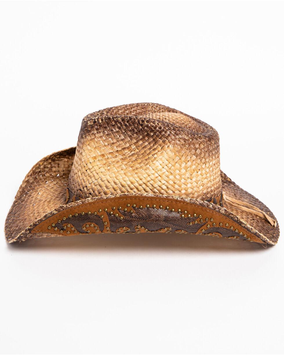 Shyanne Women's Rustic Tan Straw Hat, Brown, hi-res