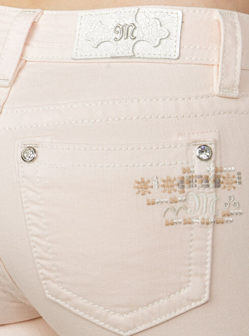 Miss Me Women's Pink Midrise Embroidered Ankle Jeans - Skinny, Pink, hi-res