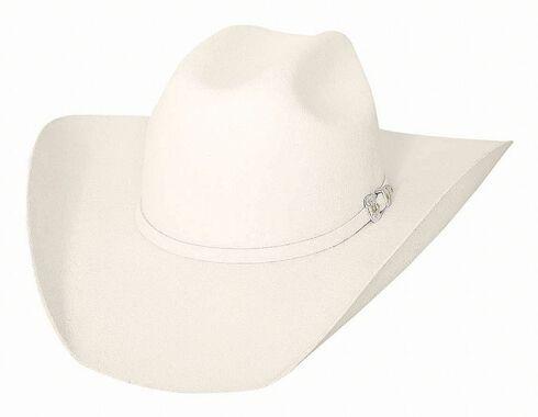 Bullhide Legacy 8X Fur Blend Cowboy Hat, White, hi-res