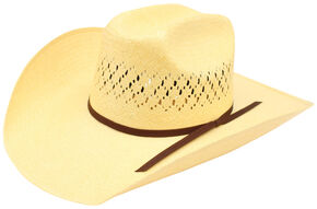 Ariat Men's 10X Maverick Double S Straw Hat, Natural, hi-res
