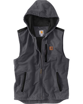 Carhartt Men's Dark Grey Knoxville Vest , Dark Grey, hi-res