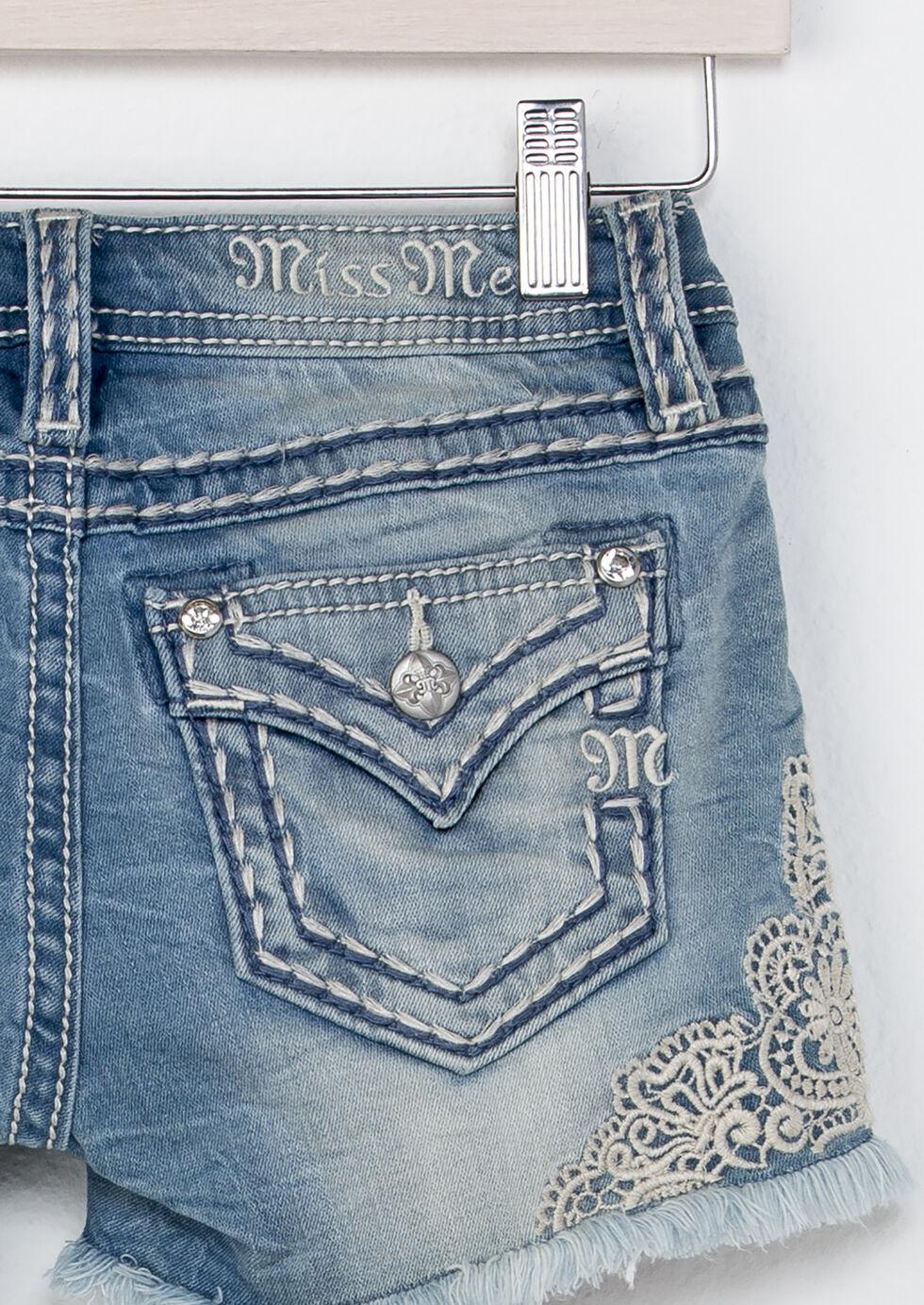 Miss Me Girls' Be A Lady Shorts, Indigo, hi-res