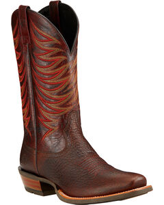 Ariat Crosswire Cowboy Boots - Square Toe , Brown, hi-res