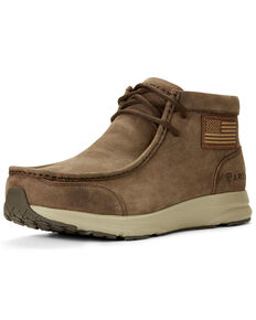 Ariat Men's Spitfire Patriot Terrace Shoes - Moc Toe, Brown, hi-res