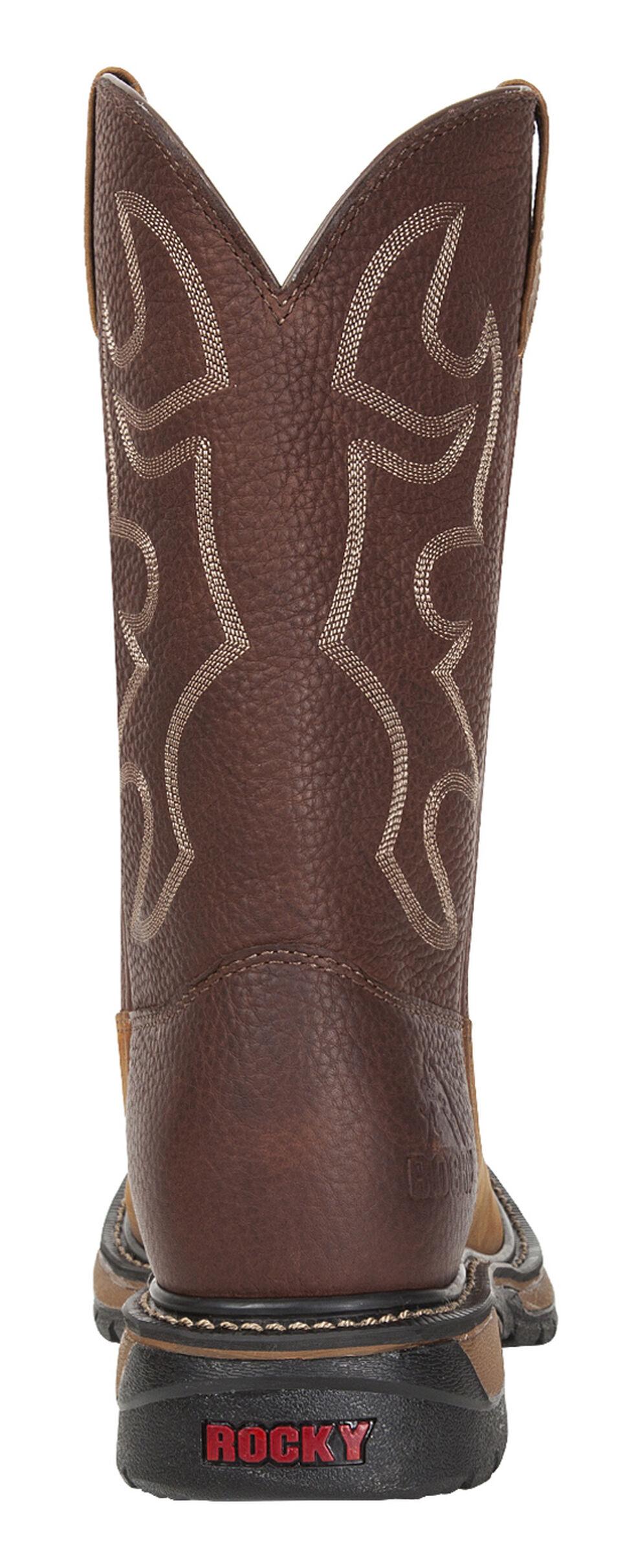 Rocky Original Ride Western Boots - Square Toe, Brown, hi-res