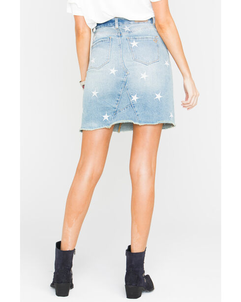 Velvet Heart Women's Star Print Denim Skirt, Blue, hi-res