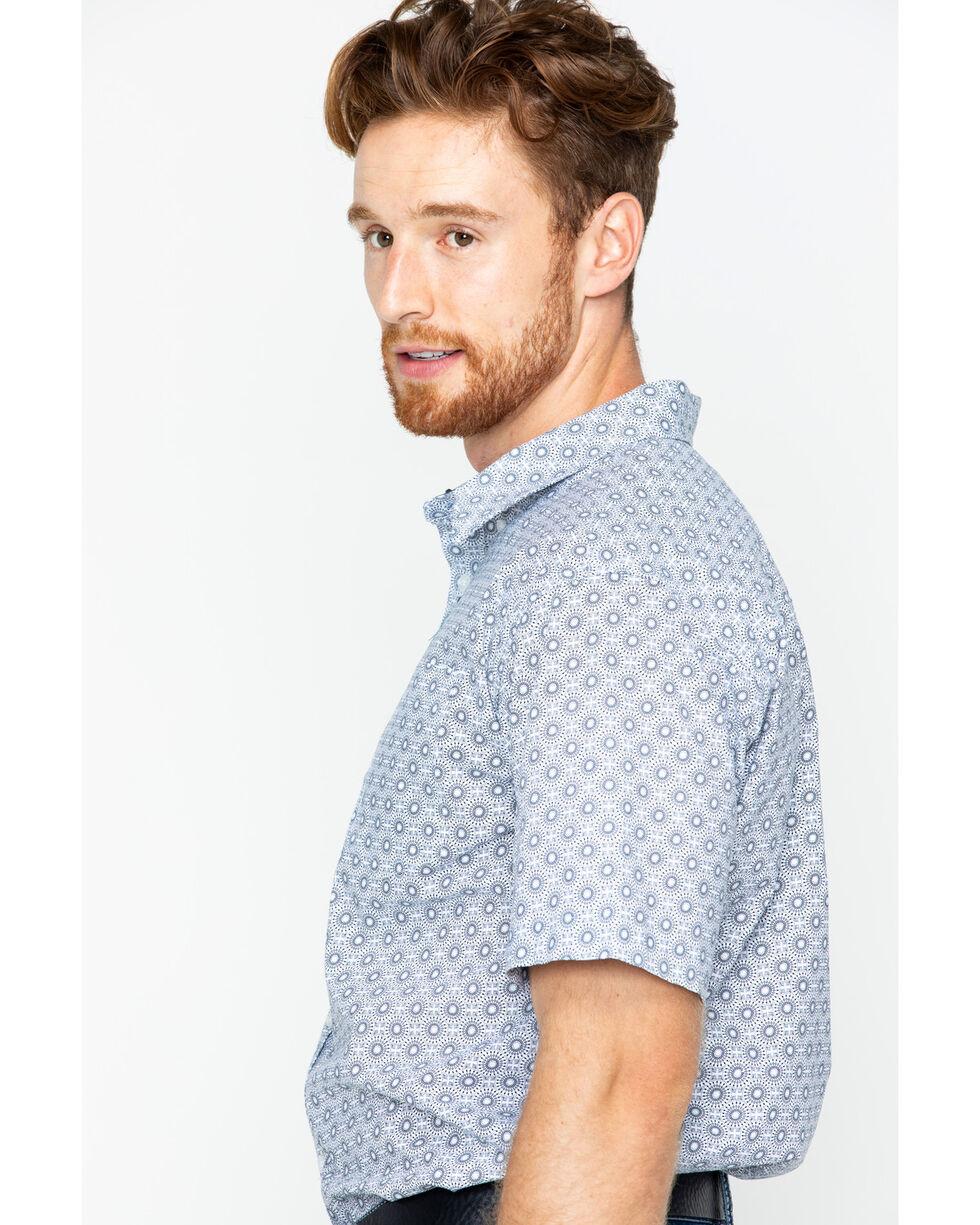 Cody James Men's Austin Short Sleeve Printed Shirt, White, hi-res