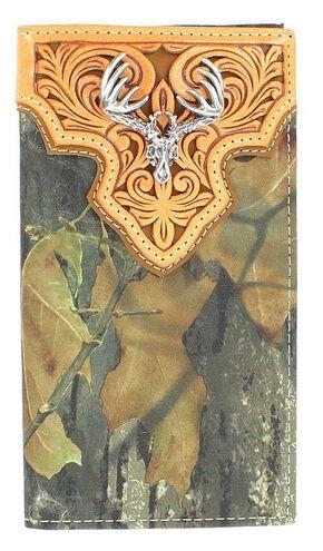 Nocona Mossy Oak Rodeo Wallet, Camouflage, hi-res
