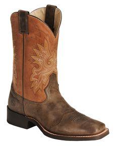 men 39 s square toe cowboy boots sheplers. Black Bedroom Furniture Sets. Home Design Ideas