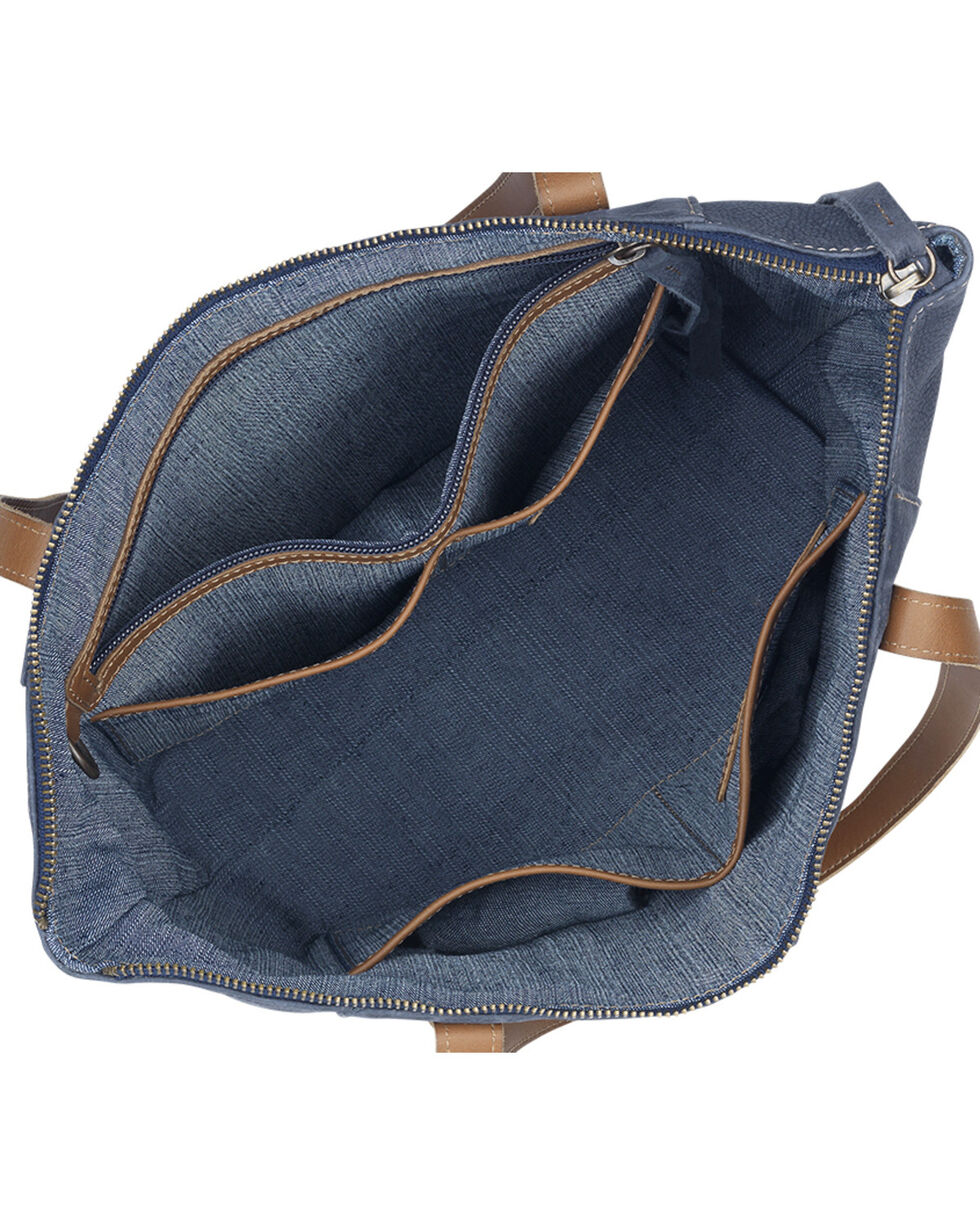 TrueLu Women's Blue Riley Tote , Blue, hi-res