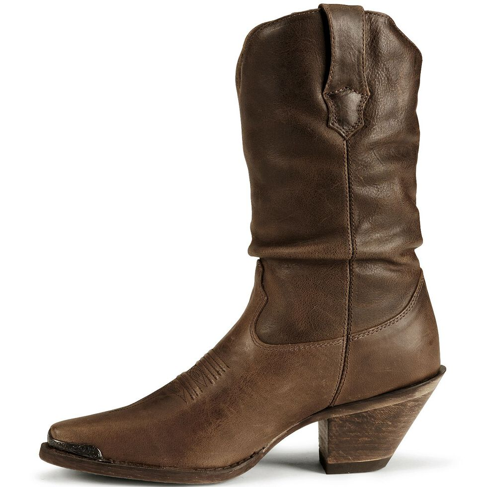 Durango Women's Crush Distressed Slouch Boots - Snip Toe, Brown, hi-res