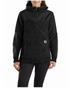 Carhartt Women's Black Yukon Extremes Wind Fighter Fleece Active Jacket , Black, hi-res