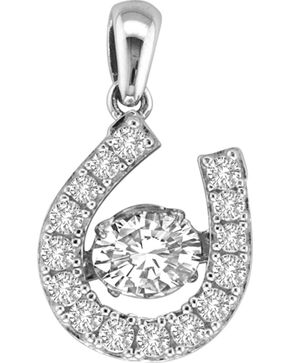 Kelly Herd Sterling Silver Dancing Diamond Dangle Pendant , Silver, hi-res