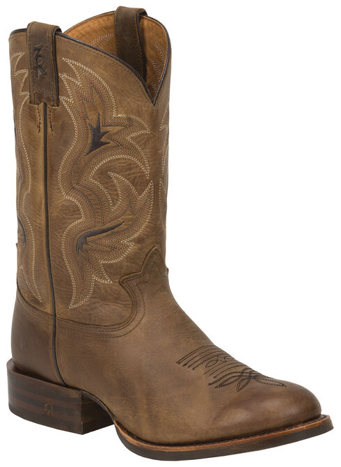 Tony Lama Tan Lockhart 3R Stockman Boots - Round Toe, Tan, hi-res