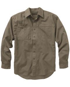 Dri Duck Men's Mason Work Shirt - Big and Tall, Brown, hi-res