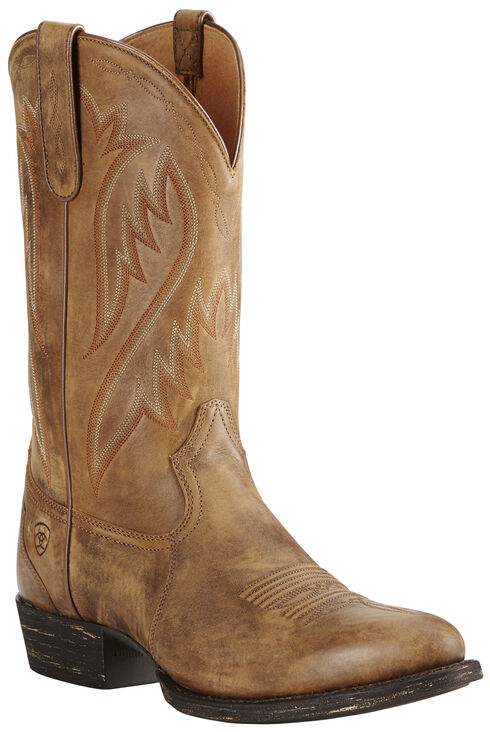 Ariat Men's Brown Cut Loose Boots - Medium Toe, Brown, hi-res