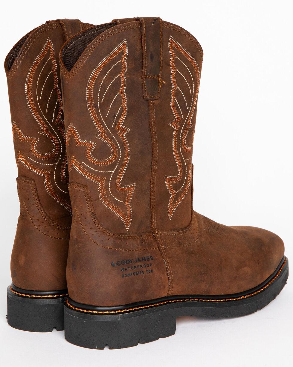 Cody James Men's Waterproof Composite Toe Pull On Work Boots , Brown, hi-res