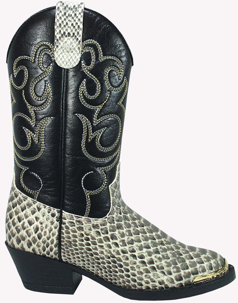Smoky Mountain Toddler Boys' Laramie Python Print Western Boots - Round Toe, Snake Print, hi-res