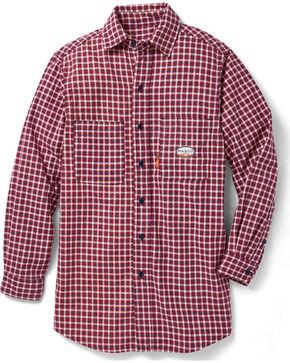 Rasco Men's Flame Resistant Long Sleeve Plaid Work Shirt, Red, hi-res