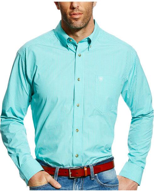 Ariat Men's Pro Series Edinburg Checkered Plaid Long Sleeve Shirt - Big & Tall, Green, hi-res