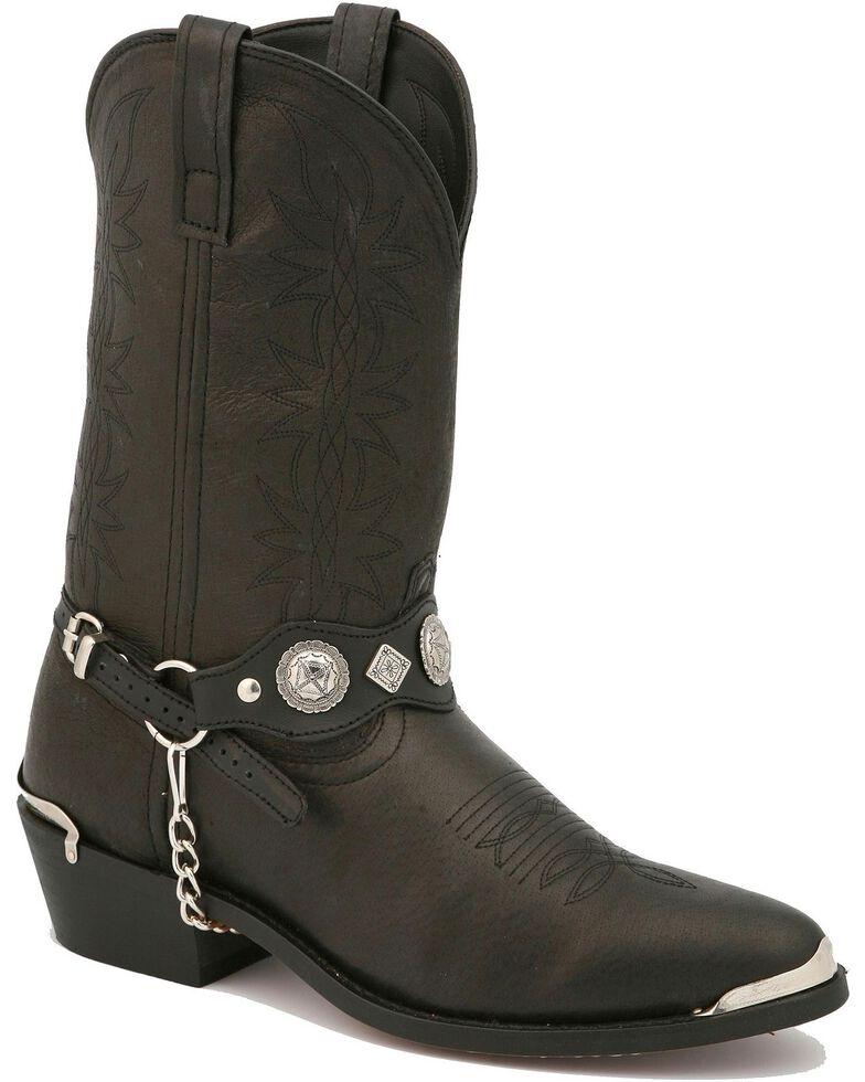 Dingo Concho Harness Cowboy Boots, Black, hi-res