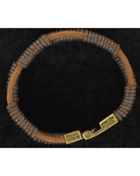 Twister Men's Leather Bracelet , Brown, hi-res