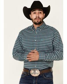 Ariat Men's Padan Stretch Aztec Print Long Sleeve Western Shirt , Multi, hi-res