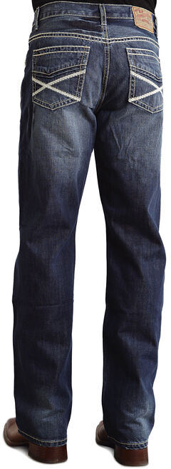 "Stetson Modern Fit Heavy ""X"" Stitched Jeans, Med Wash, hi-res"