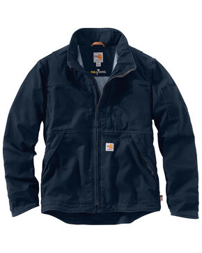 Carhartt Men's Flame-Resistant Full Swing Quick Duck Jacket - Big & Tall , Navy, hi-res