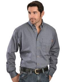 Ariat Men's FR Blue Plaid Work Shirt - Big & Tall, Blue, hi-res