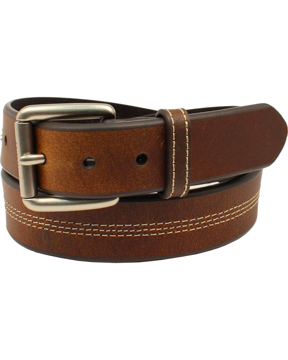 Ariat Men's Genuine Leather Classic Strap Belt, Brown, hi-res