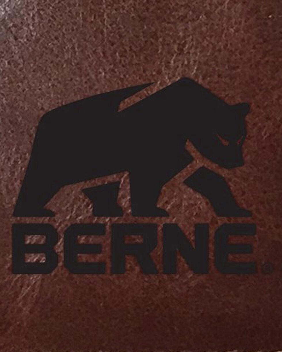 Berne Men's Brown Genuine Leather Passcase Wallet, Cognac, hi-res