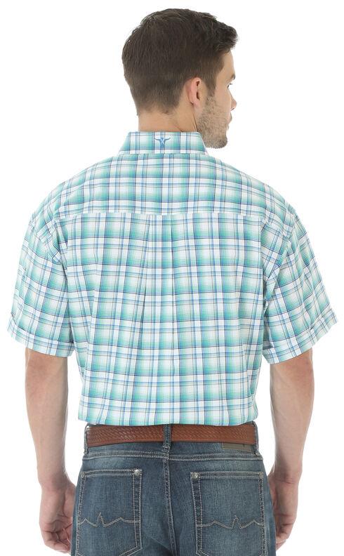 Wrangler 20X Men's Short Sleeve Plaid Button Shirt, White, hi-res