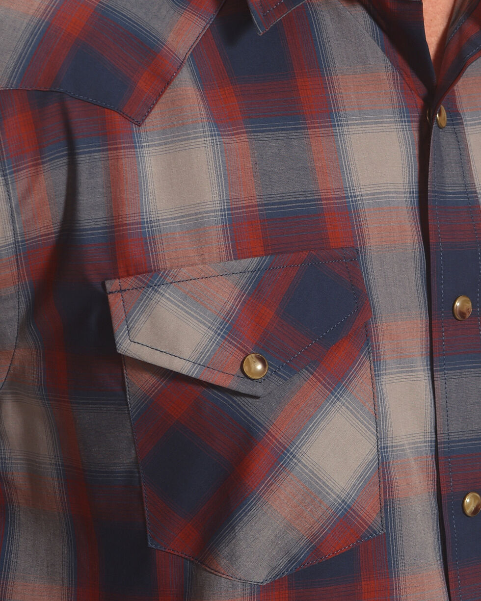 Pendleton Men's Navy Plaid Long Sleeve Frontier Shirt , Navy, hi-res