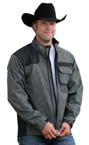 Cinch Men's Olive and Black Bonded Jacket, Olive, hi-res