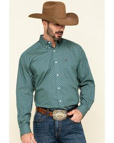 Ariat Men's Wrinkle Free Zanger Geo Print Long Sleeve Western Shirt , Multi, hi-res