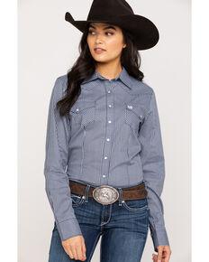 Cinch Women's Stripe Print Snap Long Sleeve Western Shirt , Multi, hi-res