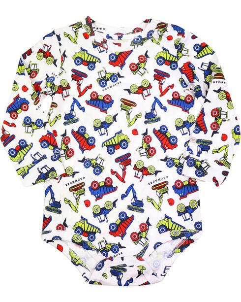 Carhartt Infant Boys' Construction Print Bodyshirt, White, hi-res